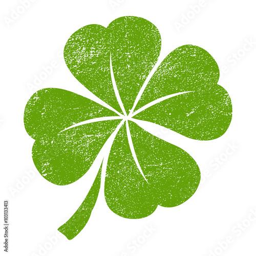 Fotografia  Lucky Four leaf Clover