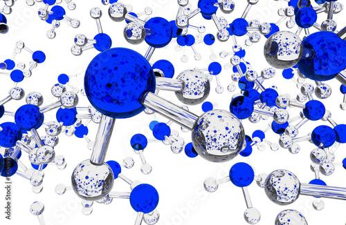 Photo Ammonia Molecules Background