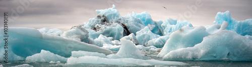 Door stickers Glaciers Jokulsarlon, glacier lagoon, Iceland