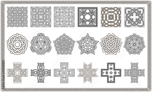 Photo  Collection of patterns for Design