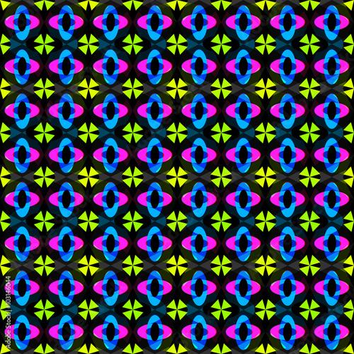Foto auf AluDibond Boho-Stil beautiful abstract geometric seamless pattern