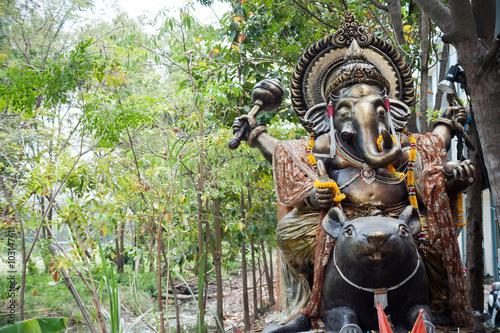 Photo  Ganesha made of stone in Thailand