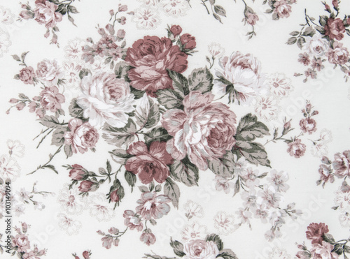 Poster Vintage Flowers vintage style of tapestry flowers fabric pattern background
