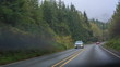 Road trip, by car on the roads of Oregon
