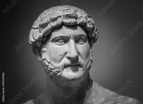 Fotografia, Obraz Ancient roman sculpture of the emperor Hadrian