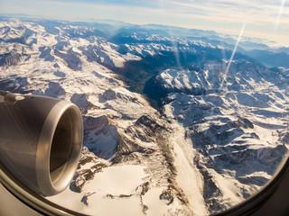 Panel Szklany Podświetlane Samoloty Die Alpen in Österreich