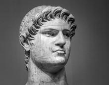 Marble Head Of Nero   Roman Emperor