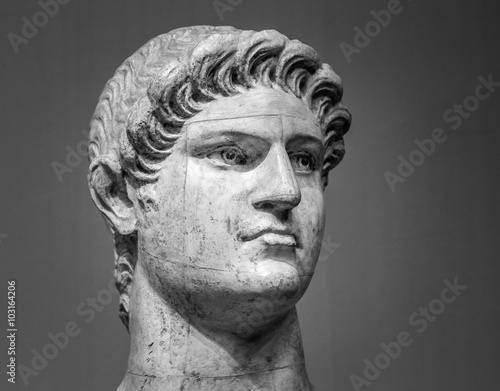Photo Marble head of Nero   Roman Emperor
