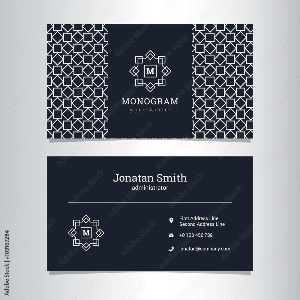Poster Art Print Vector Elegant Business Card Template With