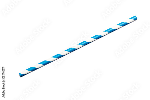 Blue drinking straw