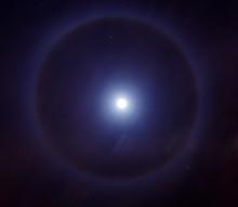 Halo Around The Moon Or A Ligh...