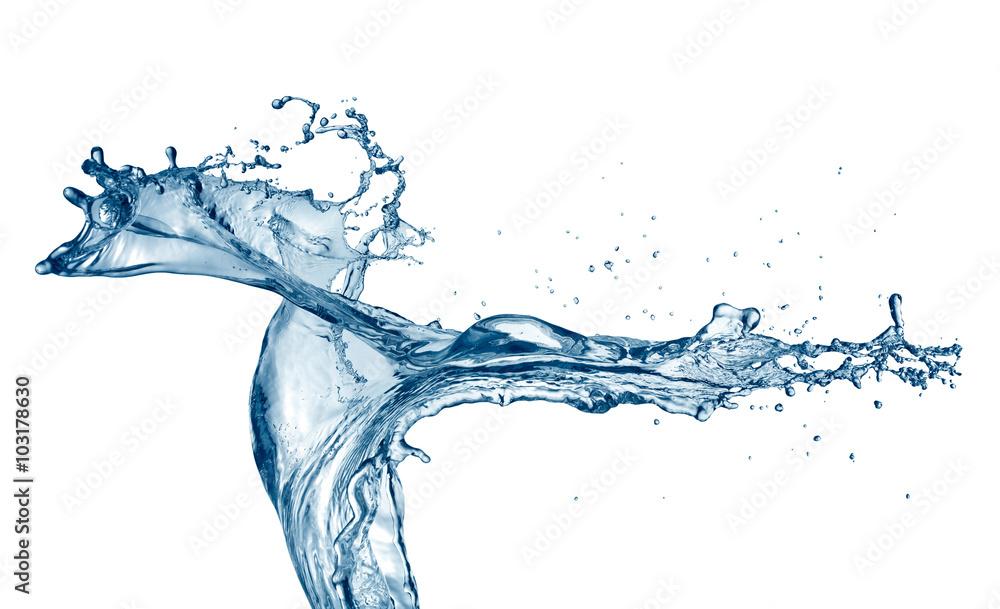 Fototapety, obrazy: Water splashing on white background