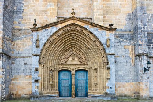 Photo  Gernika, Entrance to Church Santa Maria