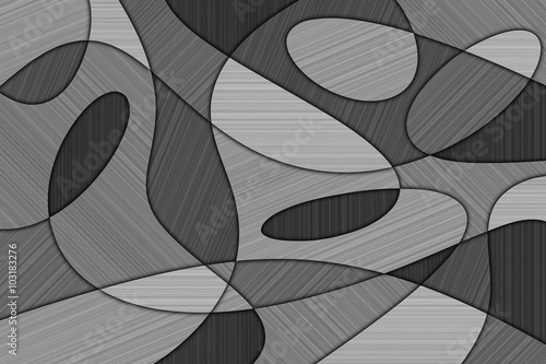 A Cubist Abstract Background with Swirling Lines and Brushed Metal Texture Canvas Print