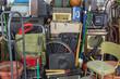 canvas print picture - Vintage Rummage Pile Storage Area Mess