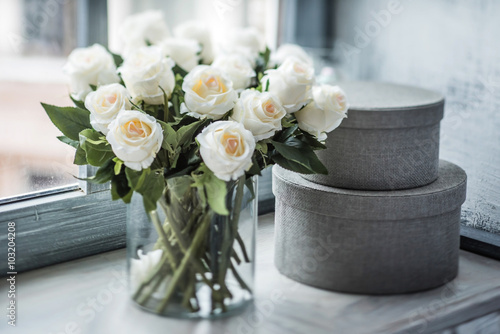 Canvas Prints Roses white roses