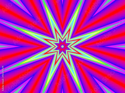 Photo Stands Psychedelic Абстрактный яркий фон.