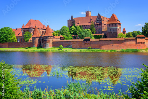 Fotografie, Obraz  The Castle of the prussian Teutonic Knights Order in Malbork, Po