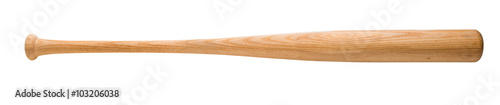 Baseball bat on white Wallpaper Mural
