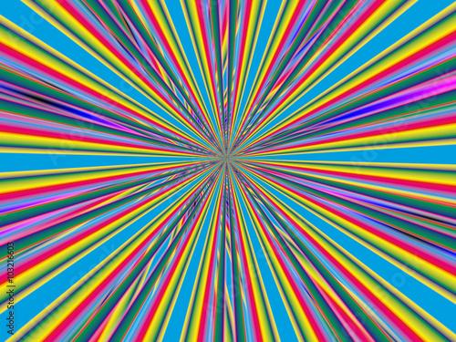 Poster Psychedelique Абстрактный яркий фон с полосами.