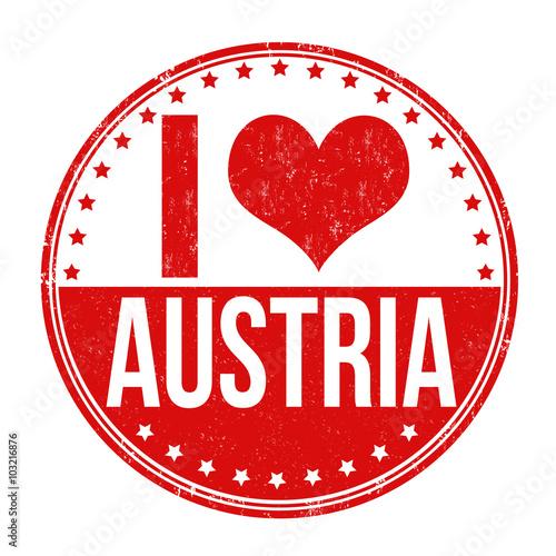 I Love Austria Stamp