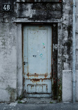 A Door Closed, View Of A Closed  Rusty Door