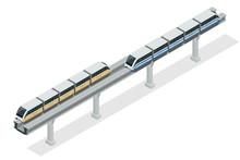 Monorail Train. Sky Train. Vec...