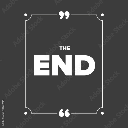 Fototapety, obrazy: The End - Movie ending screen