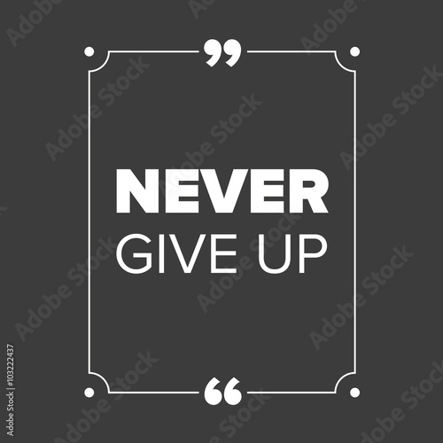 Fototapety, obrazy: Never give up - motivational quote