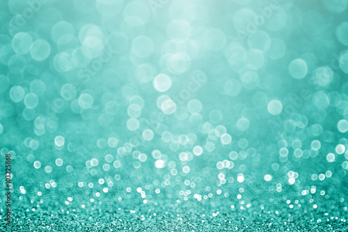 Photo  Aqua turquoise and teal green bokeh glitter sparkle background