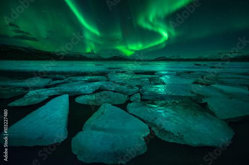 Keuken foto achterwand Noorderlicht Aurora (Iceland)