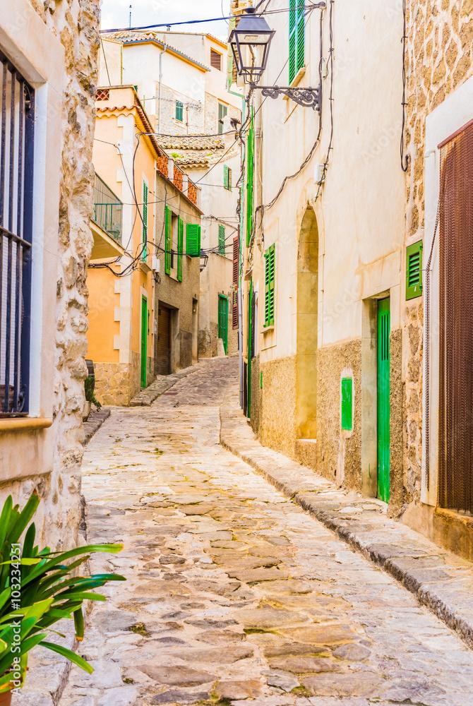 Fototapety, obrazy: Alejka z brukowymi kamieniami, śródziemnomorska wioska
