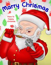 Santa Claus Hardcore Gun Hold