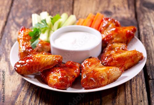 Fotobehang Kip fried chicken wings