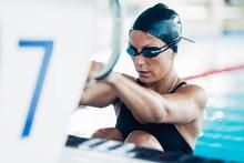 Backstroke Swimmer At The Swim...