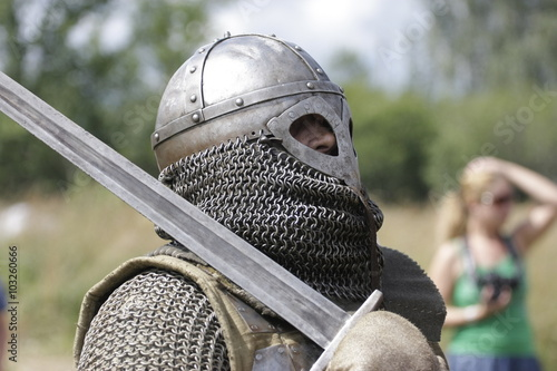 Stampa su Tela рыцари на реконструкции