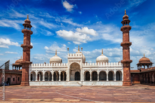 Moti Masjid Pearl Mosque, Bhopal, Indie