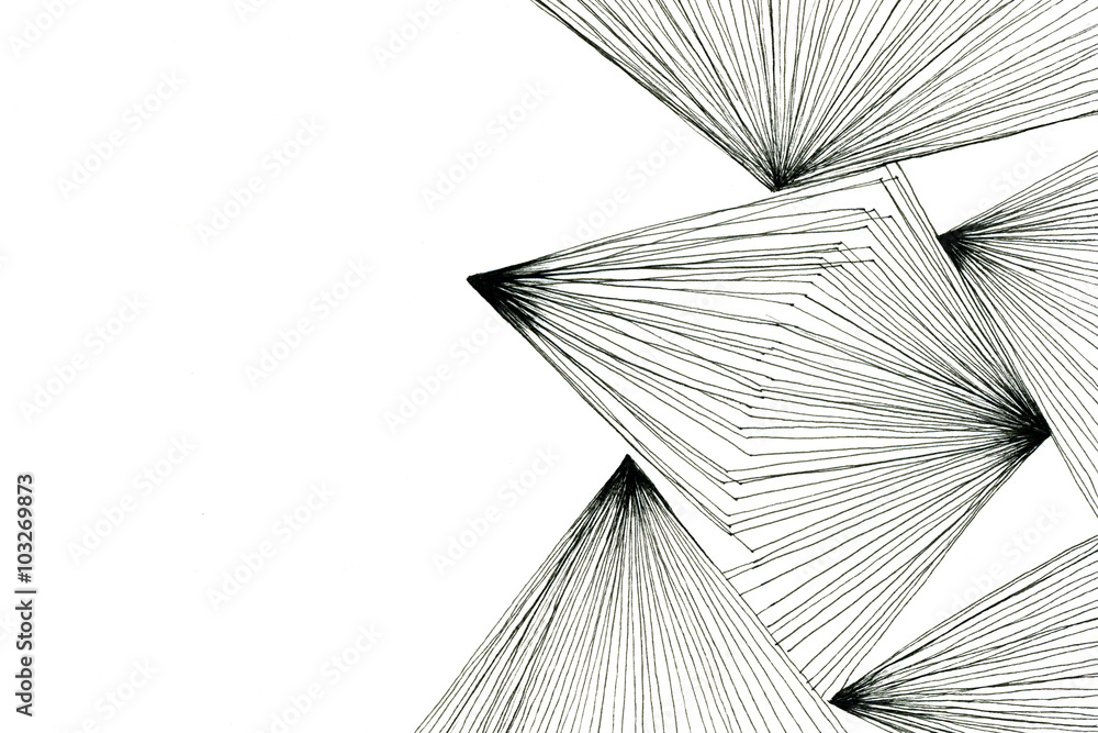 Fototapeta Abstract black-and-white art drawing