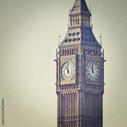 Big Ben in Westminster, London, with Instagram effect filter Canvas Print