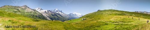 Foto op Canvas Pistache Panorama Mont Blac