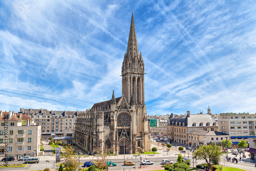 Photo sur Toile Edifice religieux Church of Saint-Pierre in Caen, Normandy