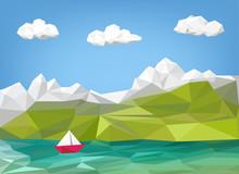 Landscape Illustration - Mount...