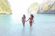 Women in Maya bay