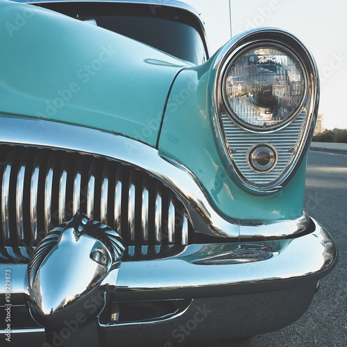 Recess Fitting Vintage cars Vintage car with chrome grill