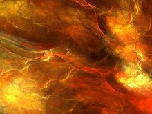 Fire Abstract Shapes Made Of Fractal Textures.
