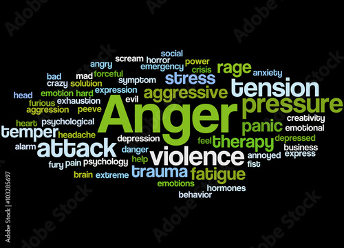Anger, word cloud concept 5 - Buy this stock illustration