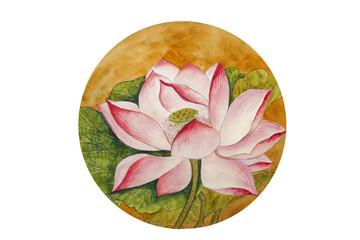 Panel Szklany Japoński beautiful lotus flower