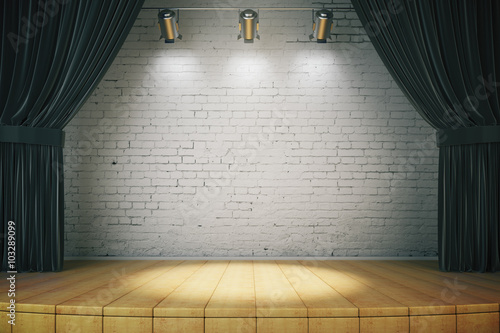 Fotografie, Obraz  Black curtain