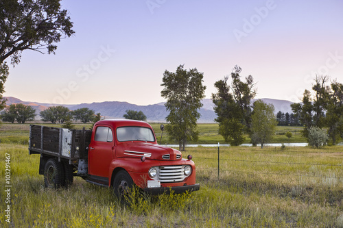 фотография  Vintage Truck in a Country Field