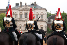 The Queen's Life Guard Or Horse Guard Participate In The Changing Ceremony In London
